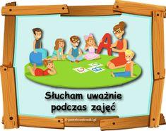 KODEKS PRZEDSZKOLAKA - nowe ilustracje - materiały do pobrania - Pastelowe Kredki Toy Chest, Family Guy, How To Plan, Toys, Frame, Character, Decor, Speech Language Therapy