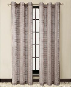 "Victoria Classics Window Treatments, Clinton 55"" x 84"" Panel - Window Treatments - Home Decor - Macy's Bridal and Wedding Registry=Taupe"