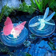 Color-Changing LED Garden Solar Light Outdoor Waterproof Dragonfly/Butterfly Solar LED For Garden Decoration Path Lawn Lamp Solar Powered Lights, Solar Lights, Solar Pond, Pond Lights, Floating Lights, Novelty Lighting, Color Changing Led, Power Led, Festival Decorations