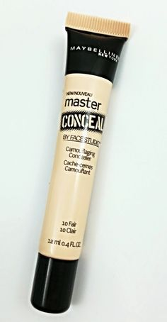 Maybelline Master Conceal -- Medium-full coverage, depending on how much you need to cover. Thin consistency. Easy to blend out. Lightweight. Lasts all day!