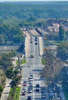 Mihajlo Pupin Boulevard and the Varadin Bridge