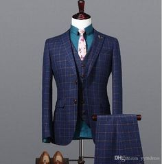Wool Groom Wear Groomsmen Suits 2019 Modest Slim Fit Mens Business Suit Jacket + Pants + Vest Men's Suits Wedding Suits Groom Best Suits For Men, Suits For Sale, Wedding Dress Men, Wedding Suits, Wedding Tuxedos, Mens Fashion Suits, Mens Suits, Discount Suits