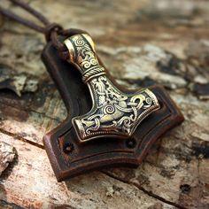 Bronze-Thors Hammer Mjolnir Wikinger Amulett nordischen 3D