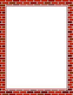 Printable brick border. Free GIF, JPG, PDF, and PNG downloads at http://pageborders.org/download/brick-border/