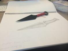 morph sketch- bone matter kunai