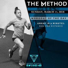 -WORKOUT OF THE DAY- March 11 2018 AMRAP in 9 minutes: -run @definedathleticsmethod by @definedathletics by @andrewandtianna All the hashtags: #definedathletics #definedathleticsmethod #themethod #method #workoutoftheday #wod #fitness #workout #strength #gymnastics #endurance #training #gymlife #fitlife #getstrong #gym #athletes #affiliates #lifestyle #competitor #healthy Workout indexing: #timepriority #amrap #run