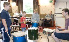 Band Photos, Percussion, Drums, Workshop, Music Instruments, Atelier, Drum Kit, Drum Kit, Drum