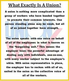 Unions were born out of necessity. due to the greed and deplorable working conditions by the company owners - ( or the good ole days as Republicans refer to them ) Economic Justice, Social Justice, Union Carpenter, Labor Union, Political Quotes, Union Made, Greed, In This World, Wise Words