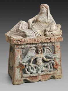 Sarcophagus or large urn with cover. Italic, Etruscan. , Late 3rd century B.C…
