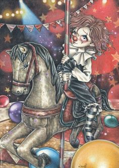Heye Pussel: Misty Circus, Carousel by Victoria Frances 1000