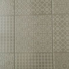 A modern twist on a classic design wall tile. Suitable for modern kitchens and bathrooms. Patterned Wall Tiles, Modern Kitchens, Ceramic Design, Wall Design, Tile Floor, Bathrooms, Classic, Crafts, Home Decor