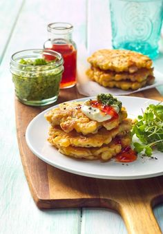 Delicious and easy stack of fritters for any meal time