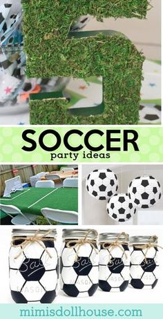 Let's kick this party into gear with some amazing Soccer birthday party ideas. Today I am sharing some of my favorite soccer party ideas to make a great futbol birthday party! Check out these soccer pa Soccer Birthday Parties, Football Birthday, Birthday Party Themes, Cake Birthday, Soccer Party Favors, Birthday Ideas, 10th Birthday, Kids Party Decorations, Party Ideas
