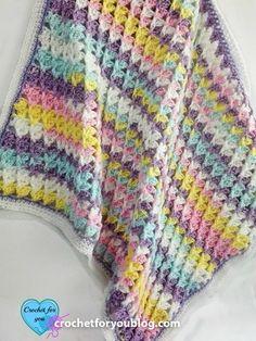 Pastel Peaks Crochet Baby Blanket By  Erangi Udeshika - Free Crochet Pattern - (ravelry)