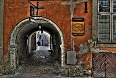 medieval archway in Vana Tallinn by Vladimir Dudarov