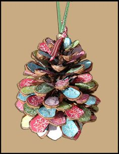 painted pine cones...can use nail polish