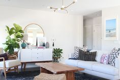 A Family Friendly Boho Home | Interior Design by Becki Owens | Photography by Becki Owens | Modern Sanctuary | Living Room | Boho Living Room | Modern Living Room | Seating
