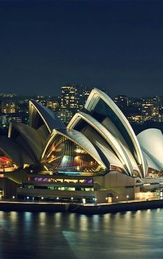 Sydney Opera House, Sydney, Australia up close the pictures do not do it justice.I saw this while cruising Sydney Harbour. Places Around The World, Travel Around The World, Around The Worlds, Places To Travel, Places To See, Wonderful Places, Beautiful Places, House Beautiful, Beautiful Buildings
