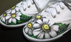 What do you think about my Sharpie decorated 5 dollar Walmart canvas shoes? I did it myself!