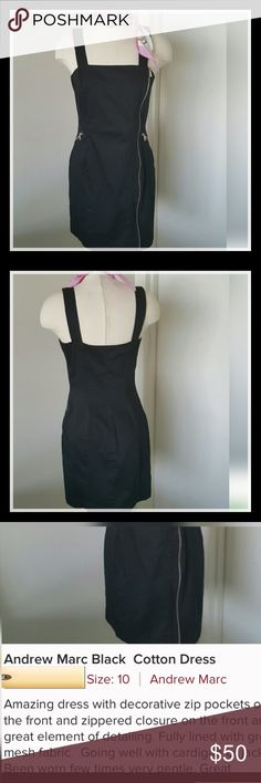 So Chic Andrew Marc Black Strapless Zipper Dress So Chic Andrew Marc Black Strapless Zipper Dress. Beautiful.  Barely worn and great condition.  Front Pockets and zipper closure. Reposh. Please read descriptions and look at photos carefully. Item not returnable. Thank you for visiting my closet. Andrew Marc Dresses Strapless