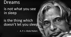 Image result for quotes of abdul kalam on dreams