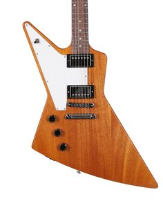 Gibson USA Explorer Left Handed in Antique Natural - Andertons Music Co. Lefty Guitars, Wood Bridge, Left Handed, Usa, Antiques, Natural, Products, Guitars, Antiquities