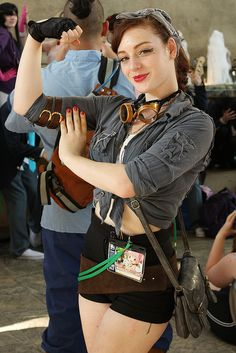 "Otakon 2011 - Steampunk ""Rosie the Riveter"" by Ardias, via Flickr"