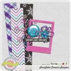 Quality DigiScrap Freebies: Snowflake Dreams tiny kit freebie from Tickled Pink Studio Fuchsia, Purple, Blue, Good Tutorials, Blog Design, Love Gifts, Free Samples, Digital Scrapbooking, Snowflakes