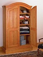 Charmant Free Armoire Wardrobe Plans | Two Door Solid Wood Armoire With A Honey Pine  Finish | Projects To Try | Pinterest | Armoire Wardrobe, Armoires And Solid  Wood