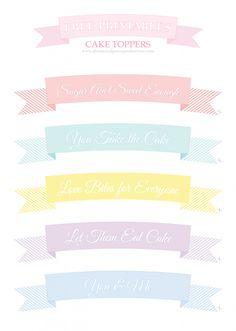 Free Printable Wedding Cake Toppers