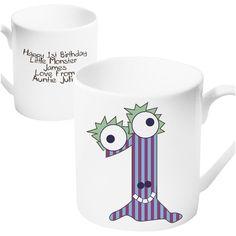 1st Birthday Gifts - Monster Age Mug - Age 1 Present   Vivabop   www.vivbop.co.uk