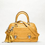 Yellow satchel by Coach