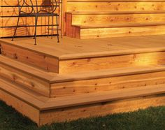 how to build cascading steps on deck