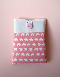 iPad Mini Case  Cute Pink & White Elephants by CherryPlumTree, £16.00