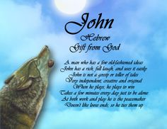 John Name Keepsake Print
