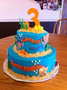 Bubble guppie birthday cake!