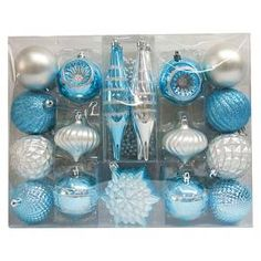 12ct Emerald Assorted Finishes Ball Shatterproof Christmas