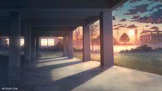 School Anime Scenery Background Wallpaper