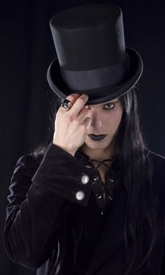 gothic top hat and veil - Google Search