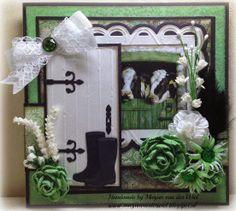 Marjan's scrapkaarten Window Cards, Die Cut Cards, House Of Cards, Marianne Design, Garden Theme, Note Cards, Ladder Decor, Cardmaking, Picture Frames