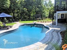 Dreaming of an outdoor pool in your backyard? What are you waiting for? Contact us today and let's get started on your design! Outdoor Pool, Outdoor Decor, Decorative Borders, Backyard, Patio, Pool Decks, Holiday Lights, Landscape Lighting, Your Design