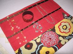Full Size Travel Jewelry Case Mocca Red by amynicholedesigns