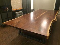 Live edge black walnut table