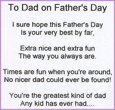 fathers day poems and songs