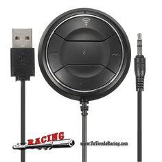 Receptor de Audio Música para Móvil Coche Bluetooth AUX Doble Cargador USB -- 16,71€
