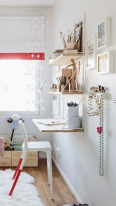 Bedroom Workspace, Shelves, Furniture, Home Decor, Gate Valve, Shelving, Decoration Home, Room Decor, Shelving Units