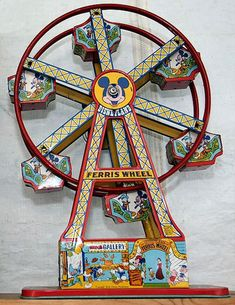 "Vintage ""Disneyland"" toy Ferris wheel."
