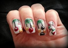 """Christmas Ornaments"" Christmas Nails"