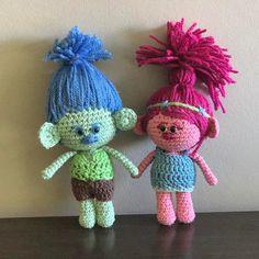 """100 Me gusta, 9 comentarios - Ruca's (@losproductosderucas) en Instagram: """"Poppy y Branch amigurumi!!! Un pedido muy especial! . . #trolls #poppy #branch #amigurumi #crochet…"""""""
