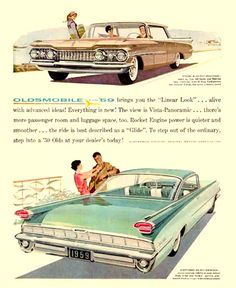 Oldsmobile 1959 Linear Look - Mad Men Art: The 1891-1970 Vintage Advertisement Art Collection
